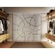 2 x 900 x 2050 mm Doppel-Glasschiebtür Siebdruck Ellipsen-Design (EF) Muschelgriffe