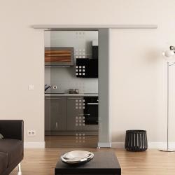 775 x 2050 mm Glasschiebetür DORMA Muto 60 Muschelgriff  Rekursiv-Design (R)