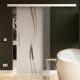 775 x 2050 mm Glasschiebtür Siebdruck Wellen-Design (A) Stangengriff