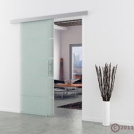 Schiebetür Glas 775 x 2050 mm | Stangengriff Edelstahl