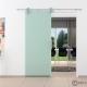 900 x 2050 x 8 mm Glasschiebetür Klarglas Stangengriff