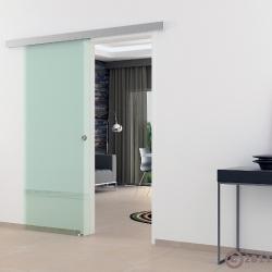 900 x 2050 mm Ganzglaschiebetür Klarglas Griffmuschel