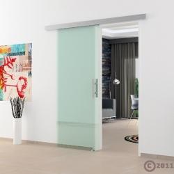 Klarglas-Glas-Schiebetür System komplett 775 x 2050 x 8 mm - Levidor Basic