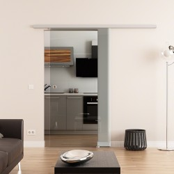 DORMA AGILE EV1 Glasschiebetür 900x2050x8mm Klarglas