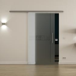 Glasschiebetür SoftClose-Schiene 900x2050mm Idea-Design (I) Stangengriff