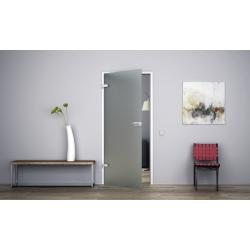 Glastür Ganzglastür Drehtür aus ESG-Glas (Einscheibensicherheitsglas) LEVIDOR ® in Milchglas (V)  für Studio Griff und Studio Bä