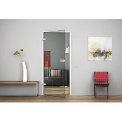 Glastür Ganzglastür Drehtür aus ESG-Glas (Einscheibensicherheitsglas) LEVIDOR ® in Klarglas (K)  für Studio Griff und Studio Bän