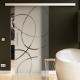 900 x 2050 mm Glasschiebtür Siebdruck Ellipsen-Design Frankfurt (F) Stangengriff