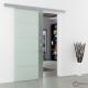 Schiebetür Glas 1025 x 2050 mm | Griffmuschel Edelstahl
