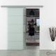 Schiebetür Glas 1025 x 2050 mm | Stangengriff Edelstahl